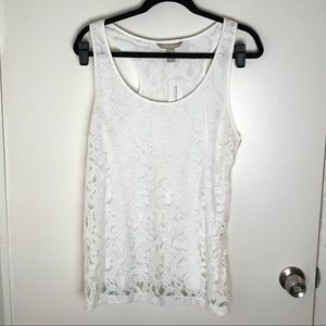 White lace tank